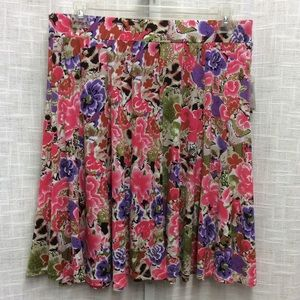 Grace Elements Floral Skirt Size Xl